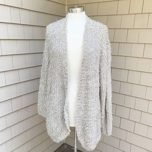 Kensie Tan Shag Fuzzy Open Cardigan Sweater XXL